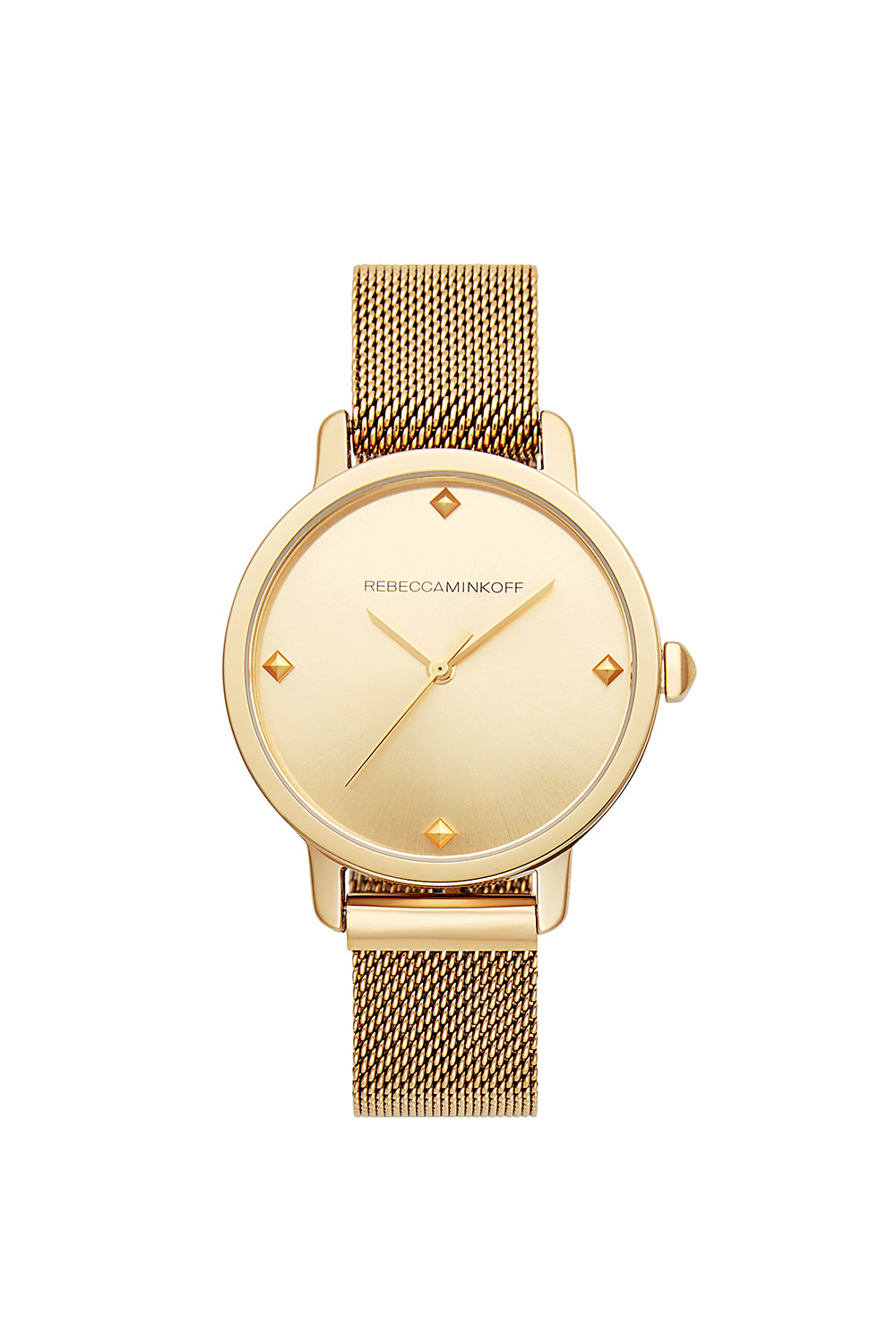 BFFL Gold Tone Mesh Bracelet Watch, 36MM