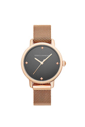 BFFL Rose Gold Tone Mesh Bracelet Watch, 36MM