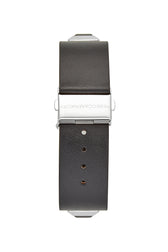 Jett Silver Tone Black Strap Watch, 22x22MM