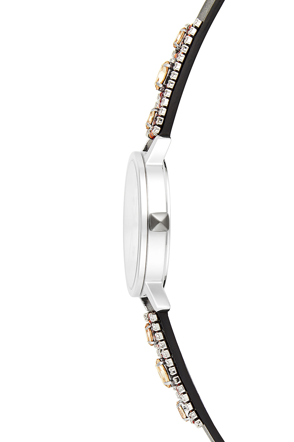 BFFL Silver Tone Beaded Strap Watch, 36MM