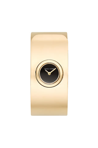 2200198 18mm  gp case and bangle with black mirror dial gold a large
