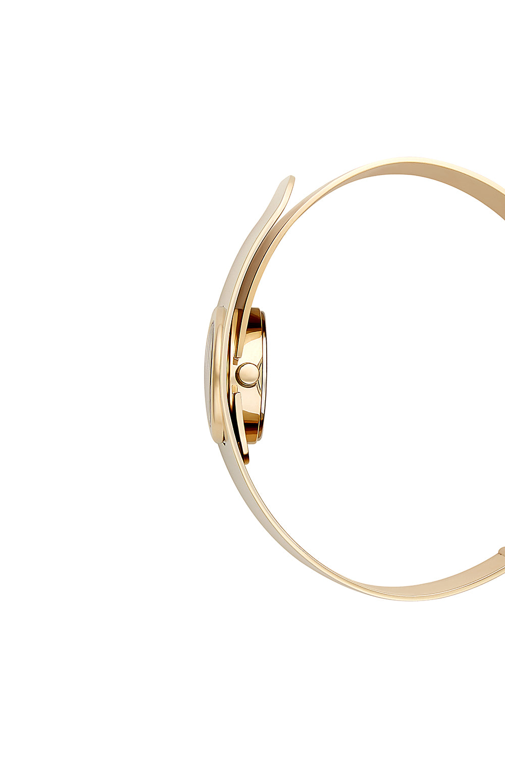 Hooked Gold Plated Tone Bangle Watch, 18mm