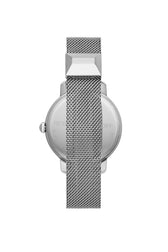 BFFL Silver Tone Mesh Bracelet Watch, 36MM