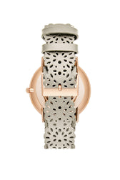 Major Rose Gold Tone Ecru Strap Watch, 40MM