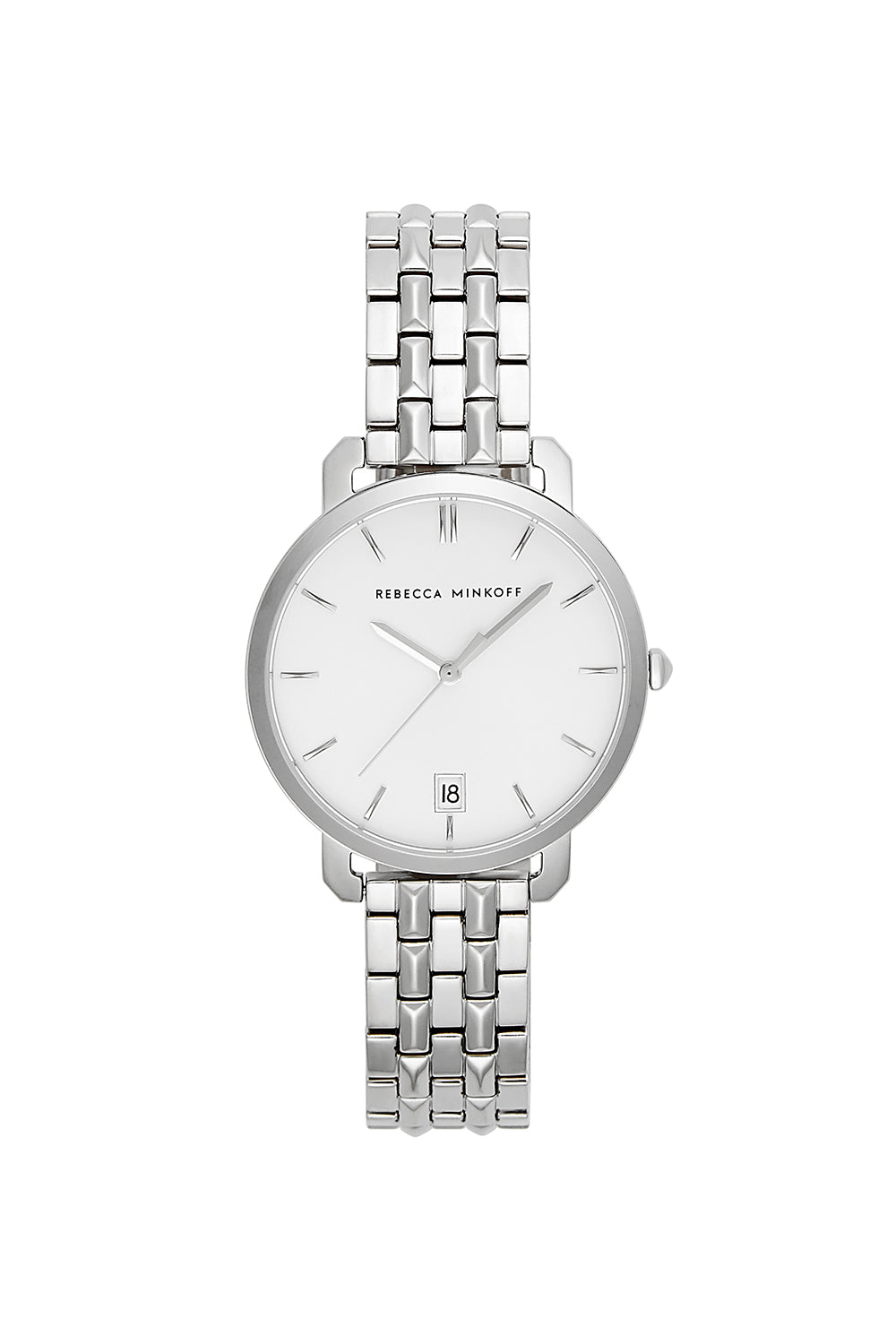 Billie Silver Tone Bracelet Watch, 34Mm in Black