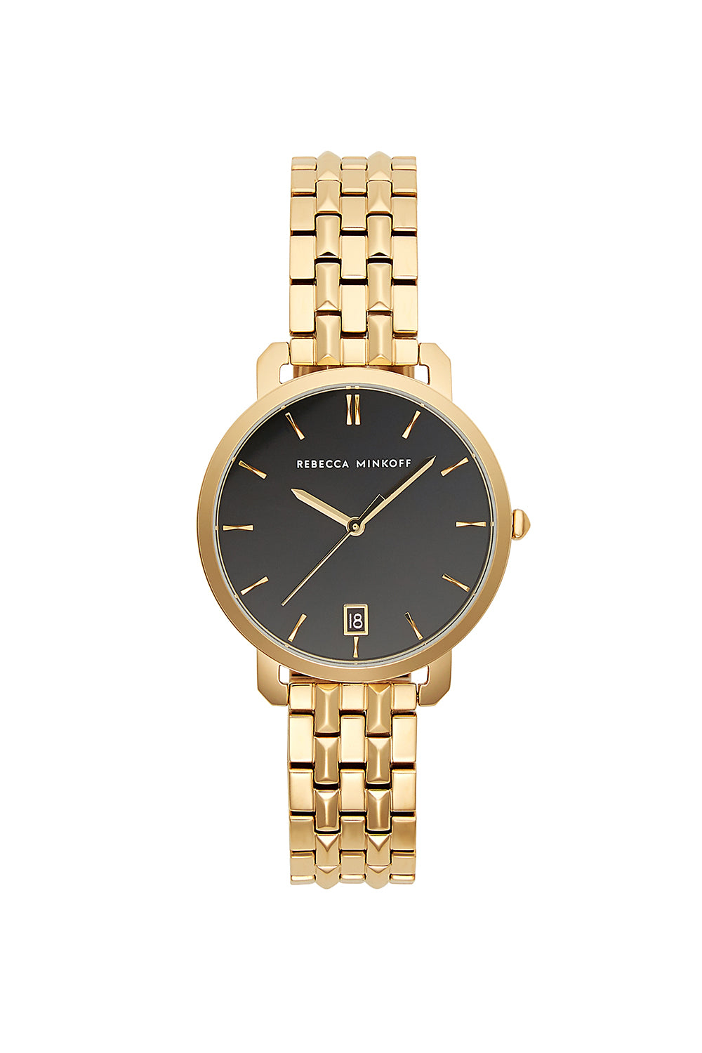 Billie Gold Tone Bracelet Watch, 34Mm in Black