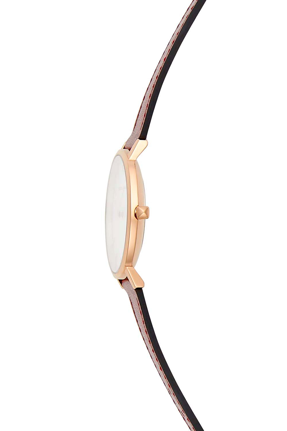 Major Rose Gold Tone Bordeaux Strap Watch, 35mm