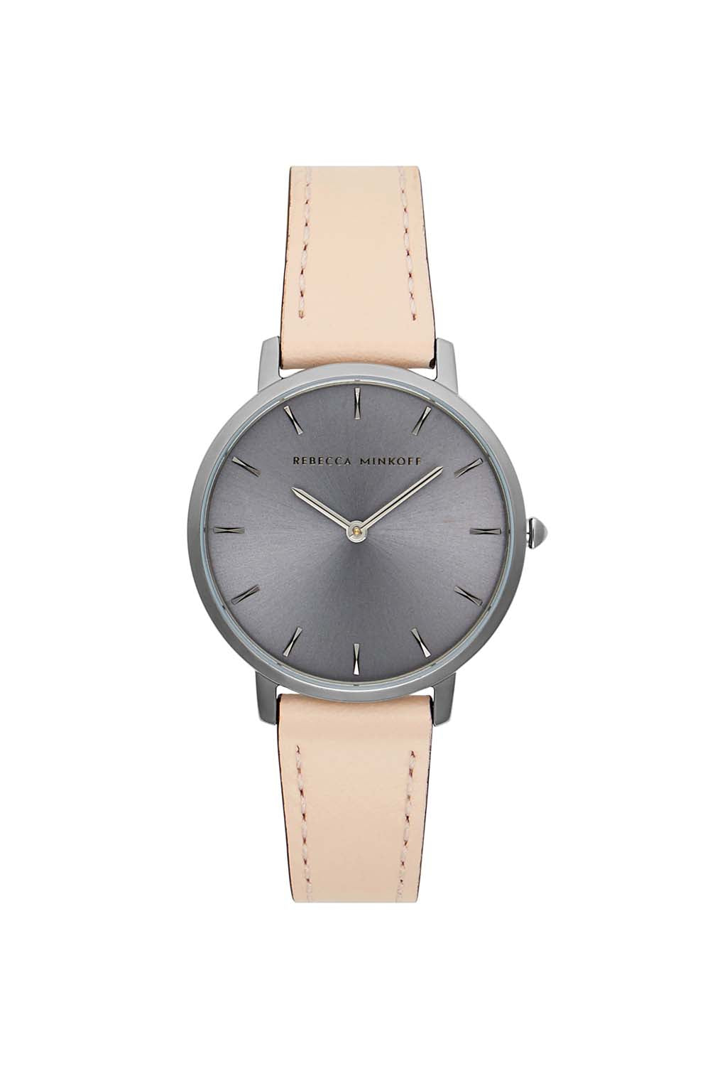 Major Grey Ion Plated Tone Blush Strap Watch, 35mm