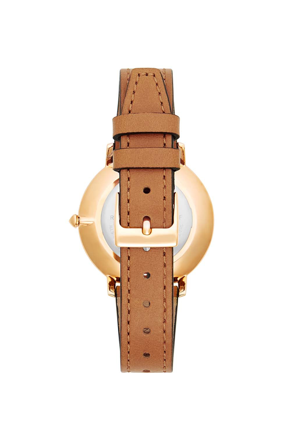 Major Gold Tone Almond Strap Watch, 35mm