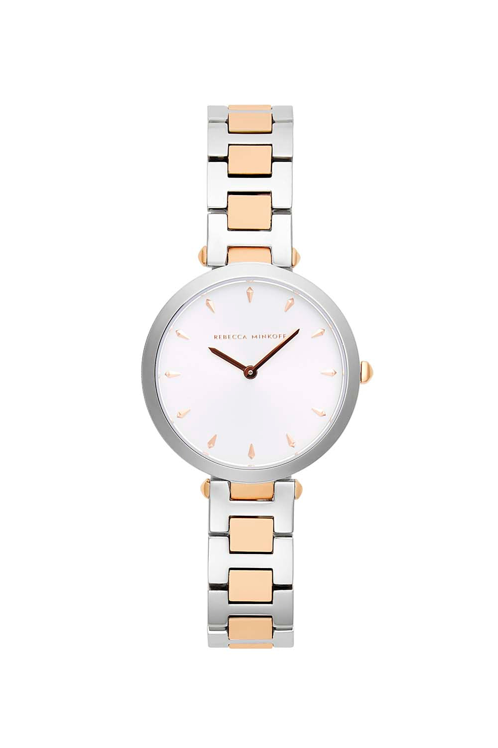 Nina TT Silver/ Rose Gold Bracelet Watch, 33mm