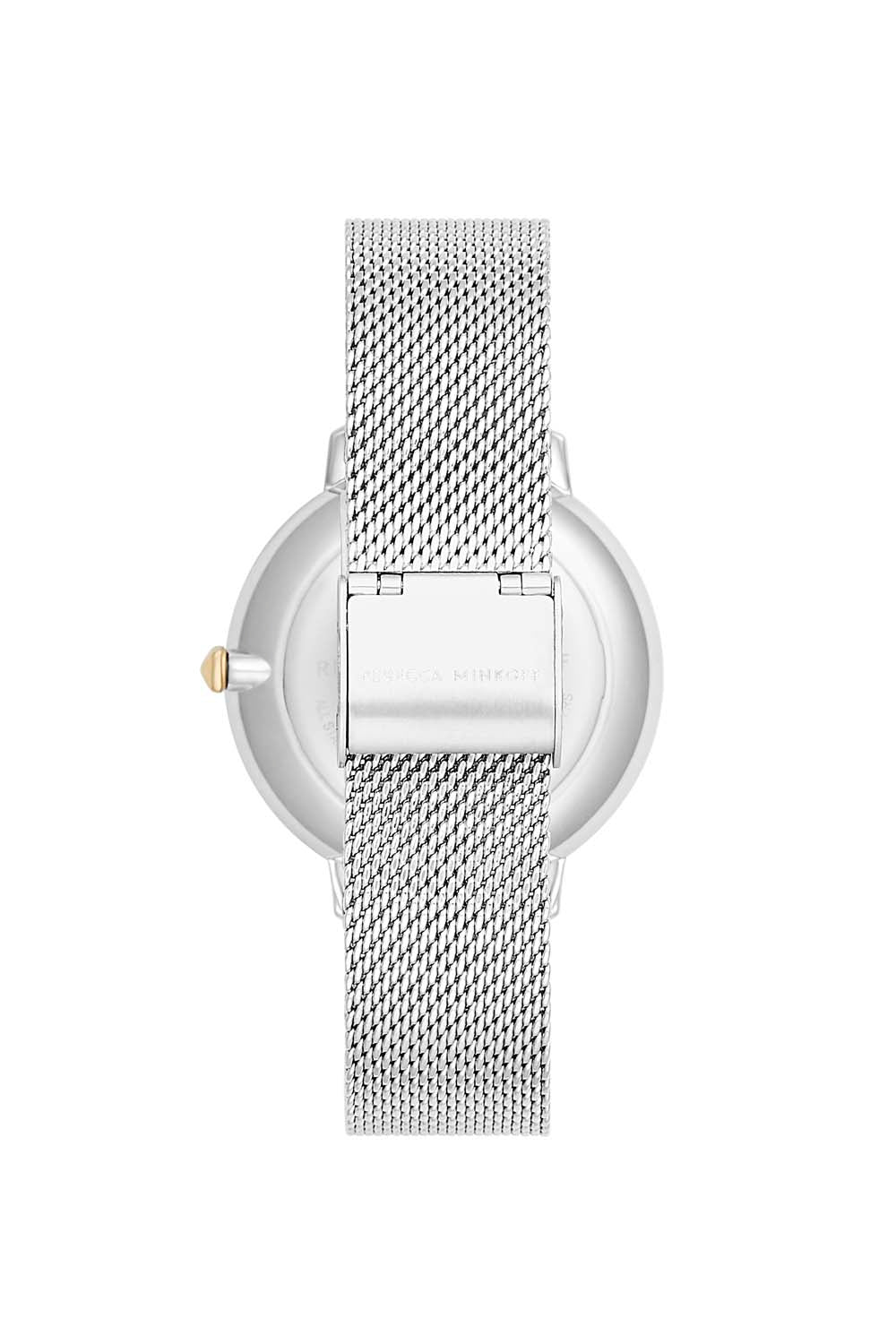 Major Silver Tone Mesh Bracelet Watch, 38mm