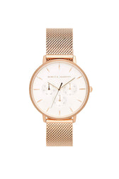 Major Rose Gold Tone Mesh Bracelet Watch, 38mm