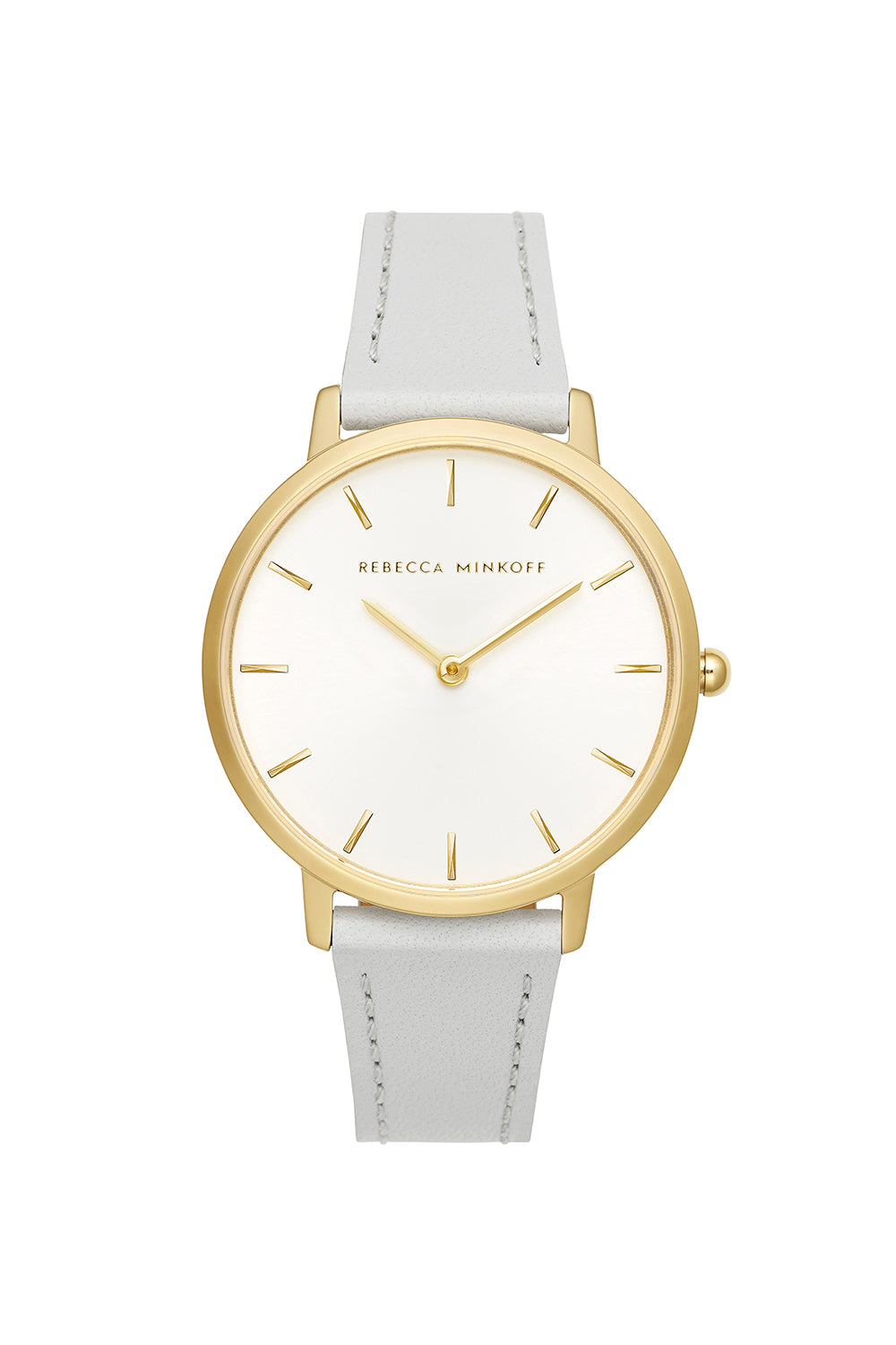 Major Gold Tone Ice Grey Strap Watch, 35mm