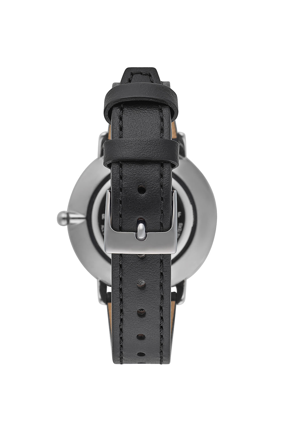 Major Grey Ion Plated Tone Black Strap Watch, 35mm