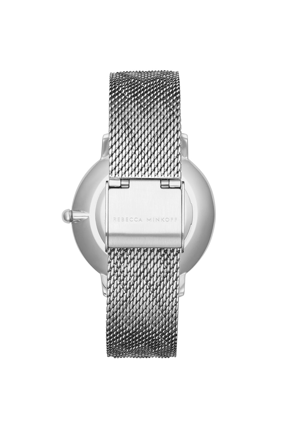 Major Silver Tone Pressed Mesh Watch, 35mm
