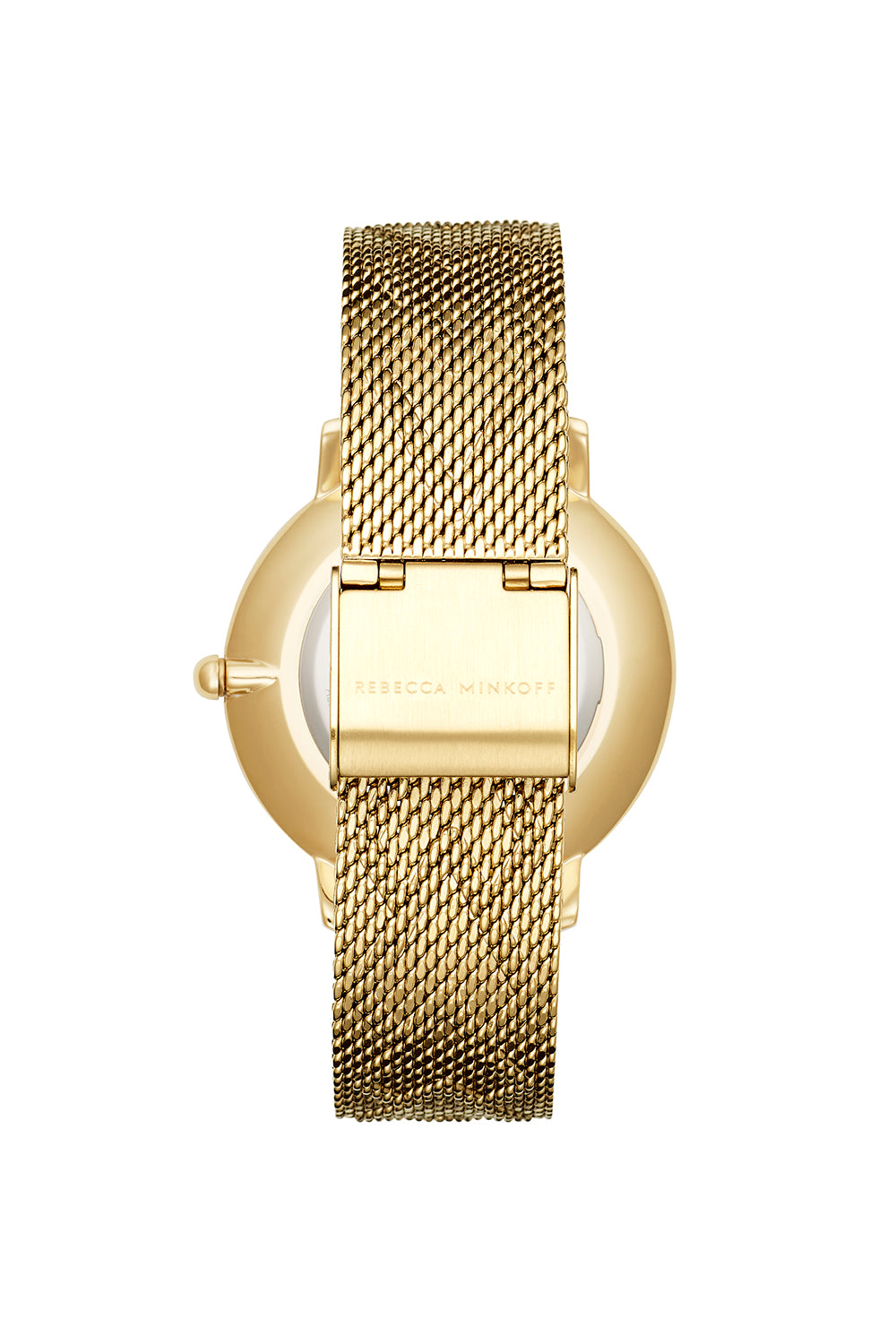 Major Gold Tone Pressed Mesh Watch, 35mm