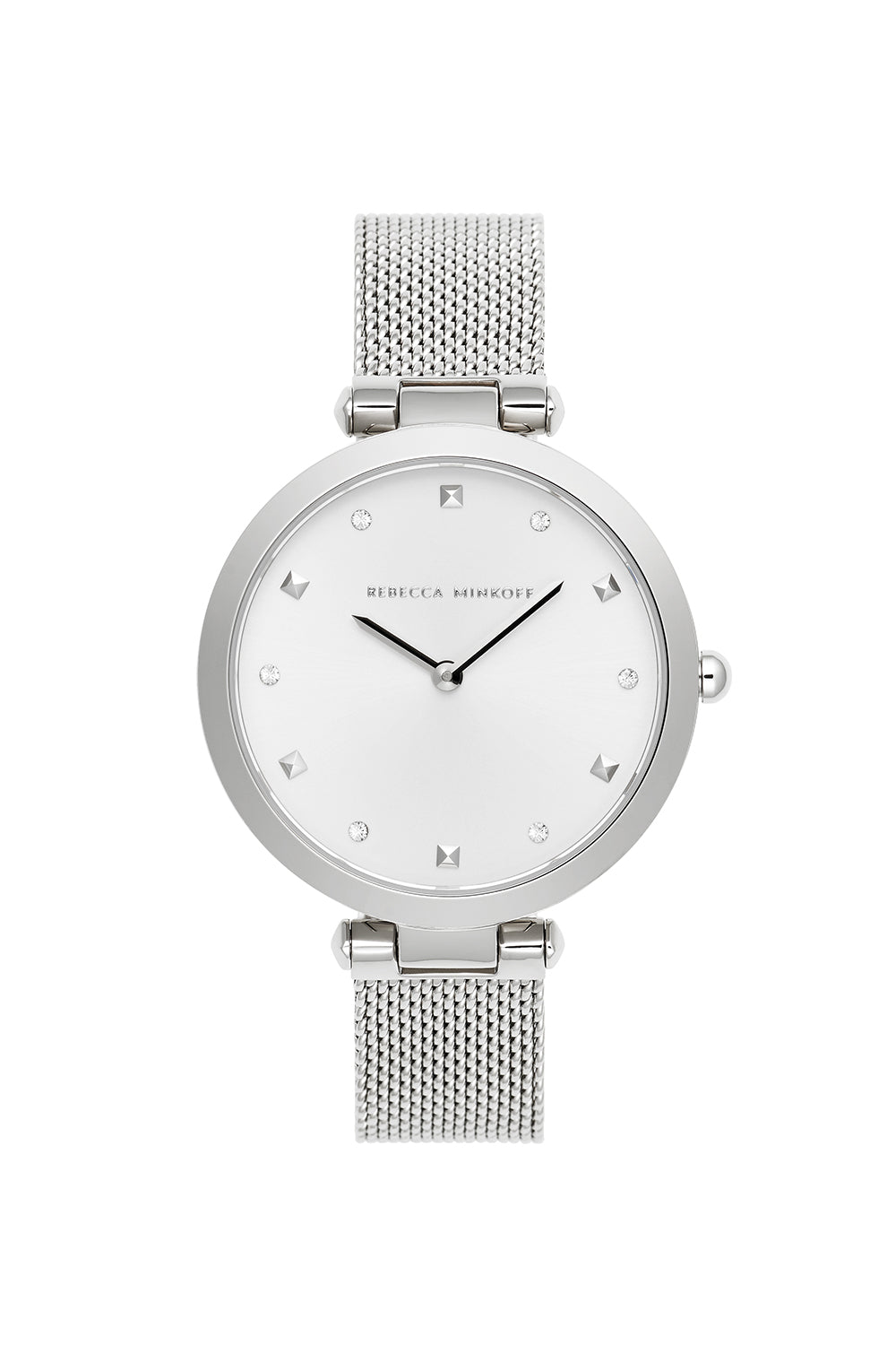 Nina Silver Tone Mesh Watch, 33mm