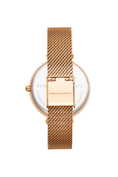 Nina Rose Gold Tone Mesh Watch, 33mm - Hover Image