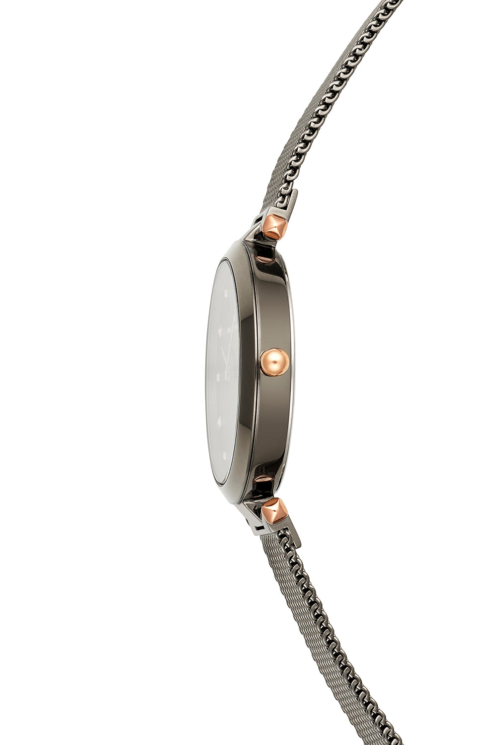 Nina Grey Ion Plated Tone Mesh Watch, 33mm
