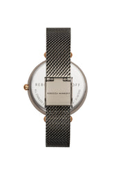 Nina Grey Ion Plated Tone Mesh Watch, 33mm - Hover Image