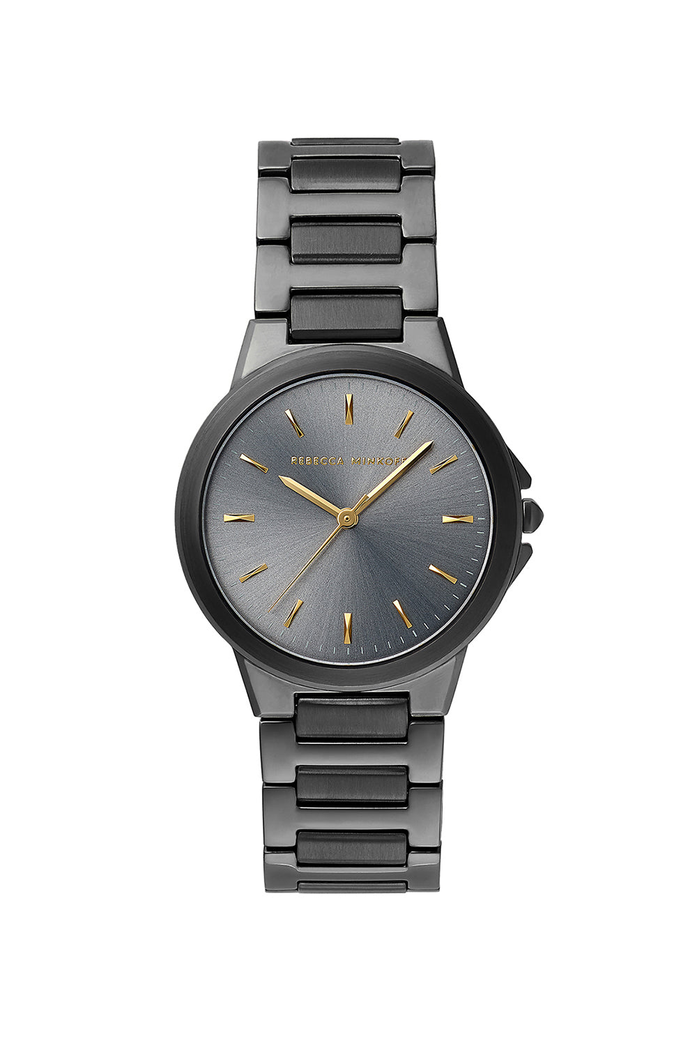 Cali Grey Ion Plated Tone Bracelet Watch, 34mm