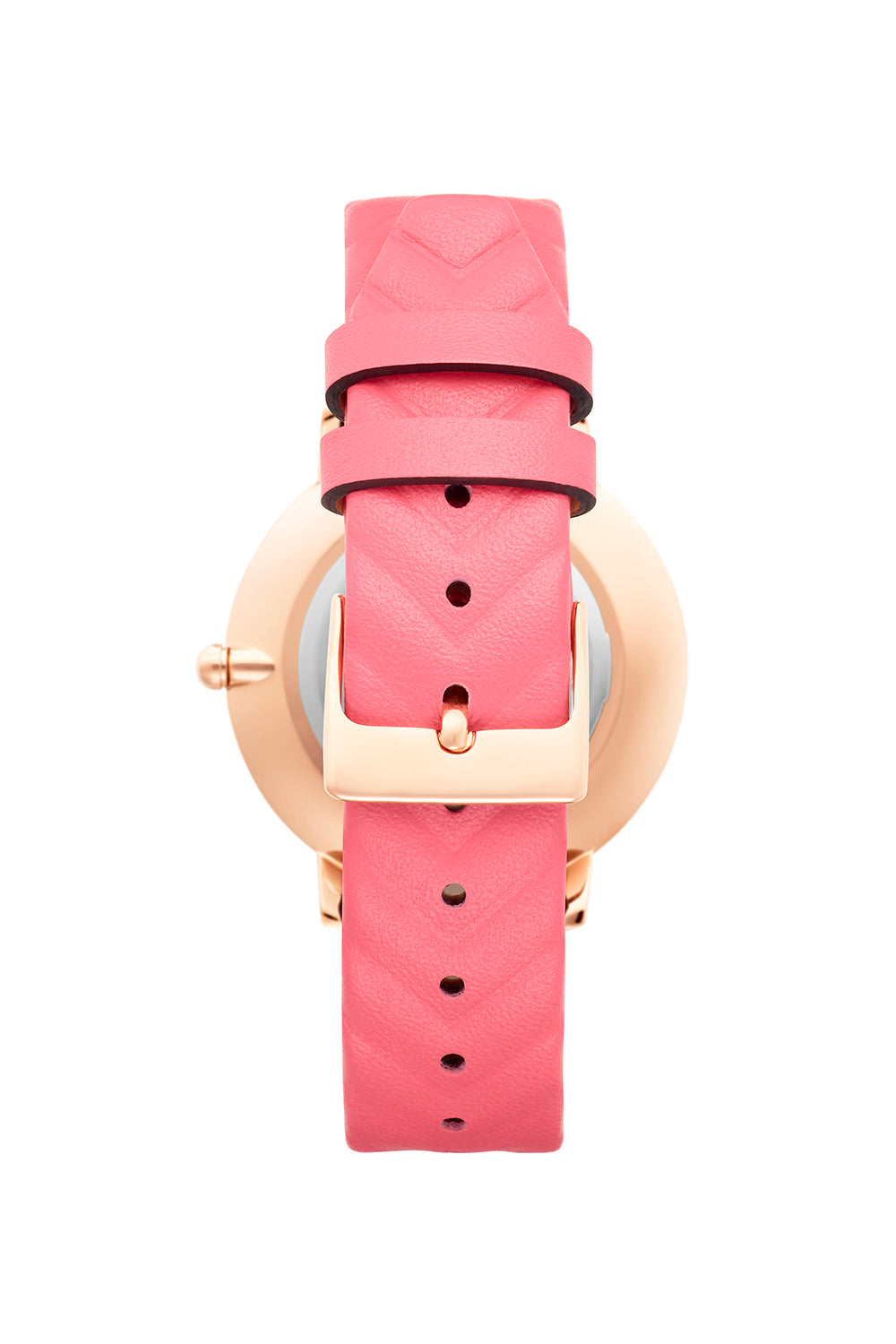 Major Rose Gold Grapefruit Strap Watch, 35mm
