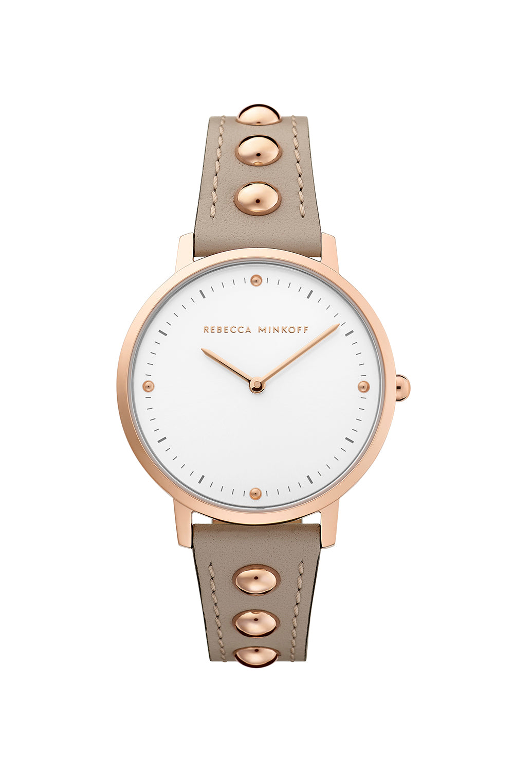 Major Carnation Gold Tone Jute Strap Watch, 35mm