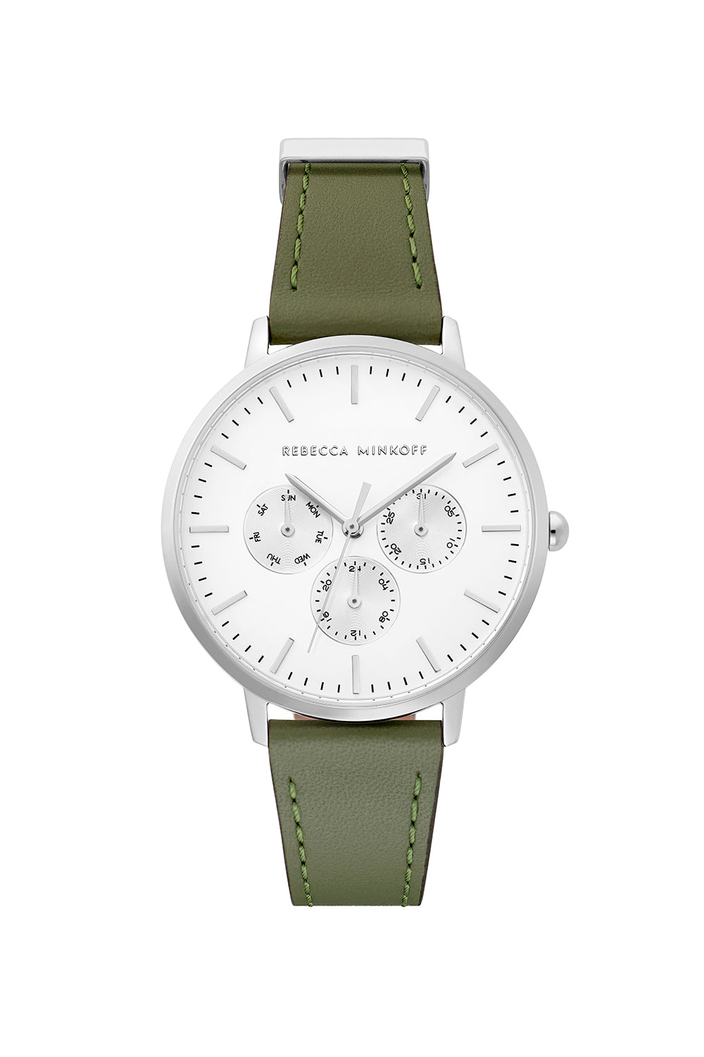 Major Silver Tone Thyme Strap Watch, 38mm