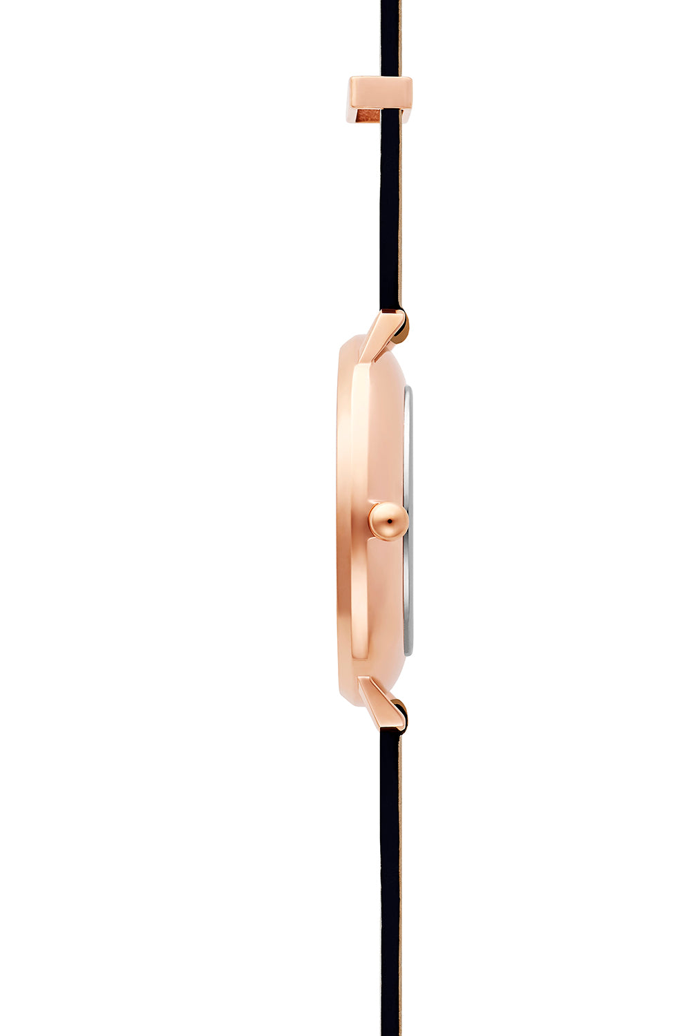 Major Rose Gold Tone Honey Strap Watch, 38mm
