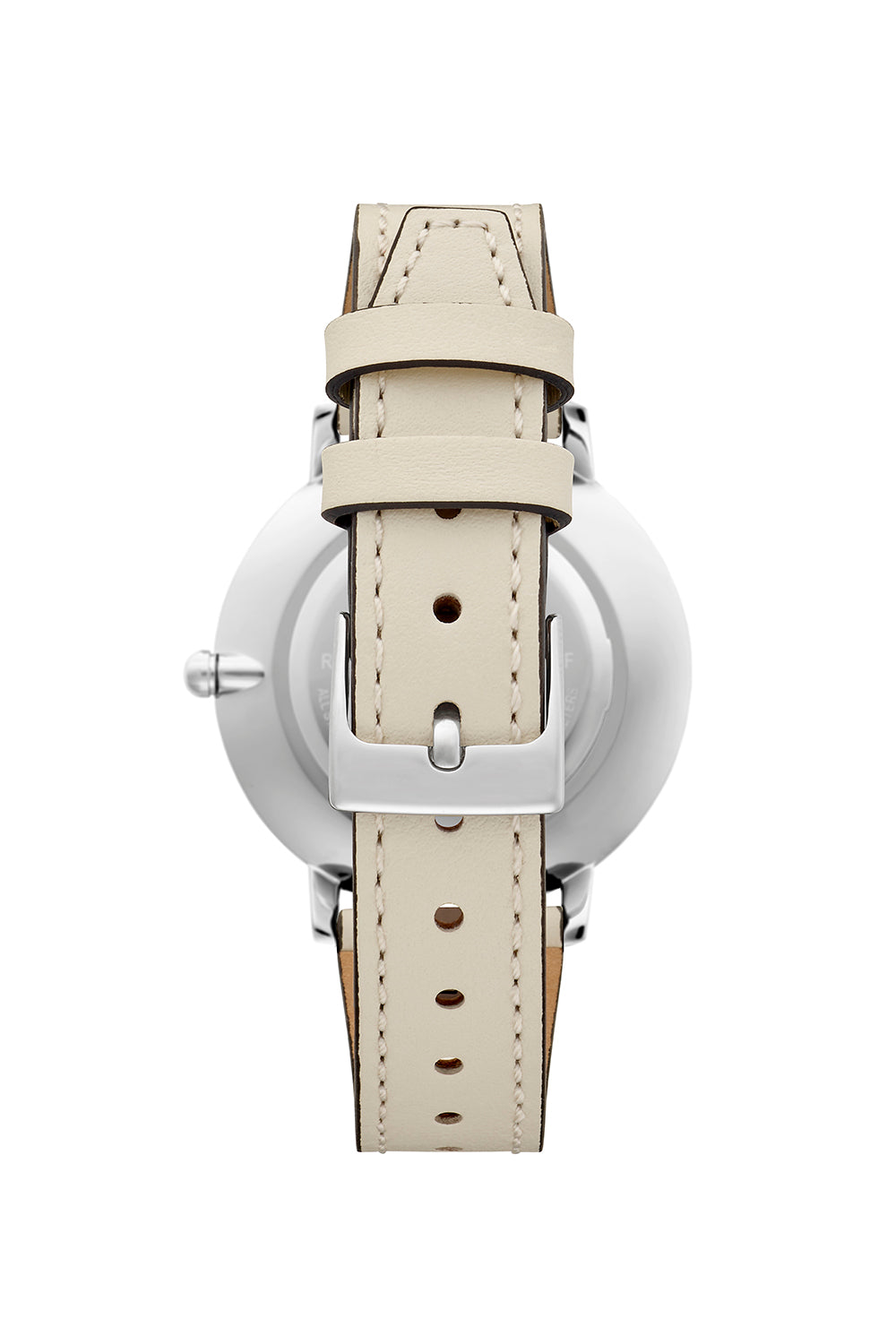 Major Silver Tone White Strap Watch, 35mm