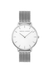 Major Silver Tone Mesh Bracelet Watch, 35MM