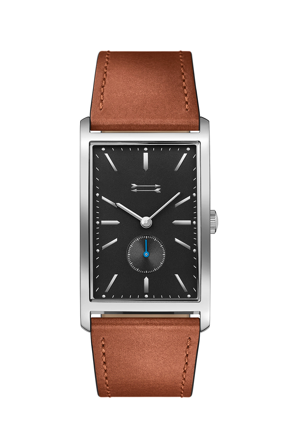 Pesaro Silver Tone Leather Watch, 27MM X 45.5MM