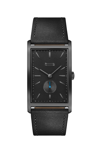Pesaro Black Tone Leather Watch, 27MM X 45.5MM