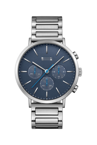 2210012 griffith 43mm ss case and bracelet with blue sandblasted dial a large