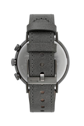 Griffith Gunmetal Tone Leather Watch, 43MM
