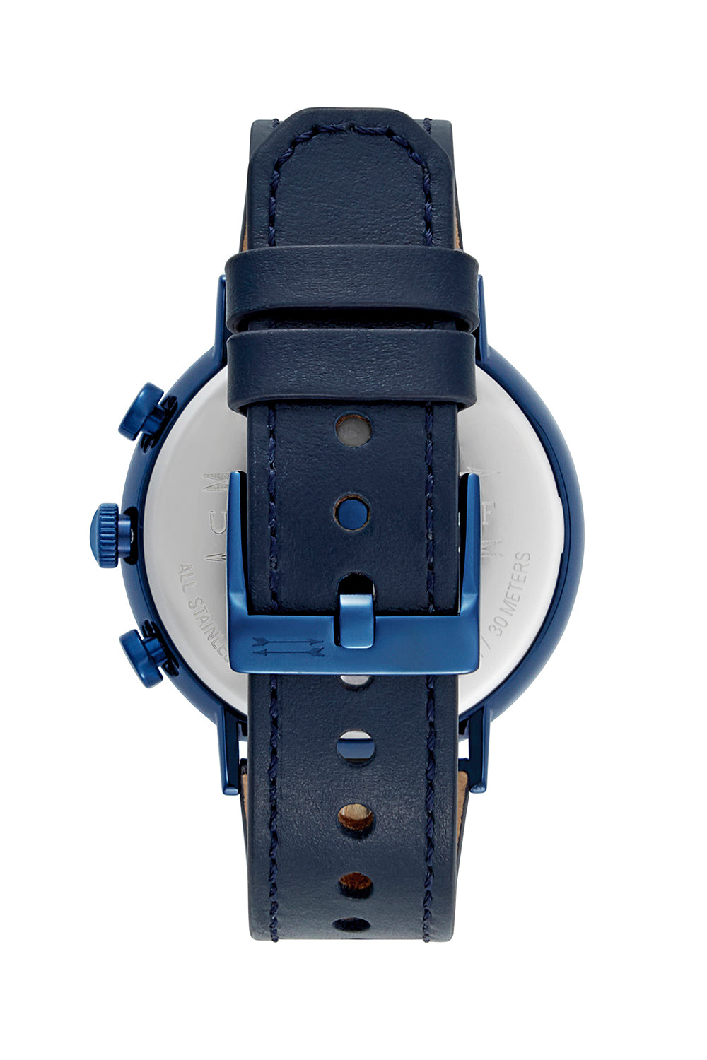Griffith Blue Tone Leather Watch, 43MM