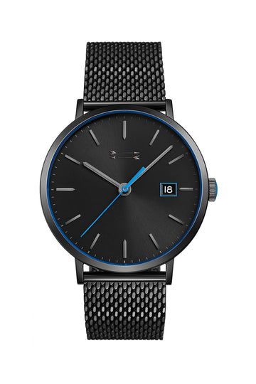 Norrebro Black Tone Mesh Bracelet Watch, 40MM