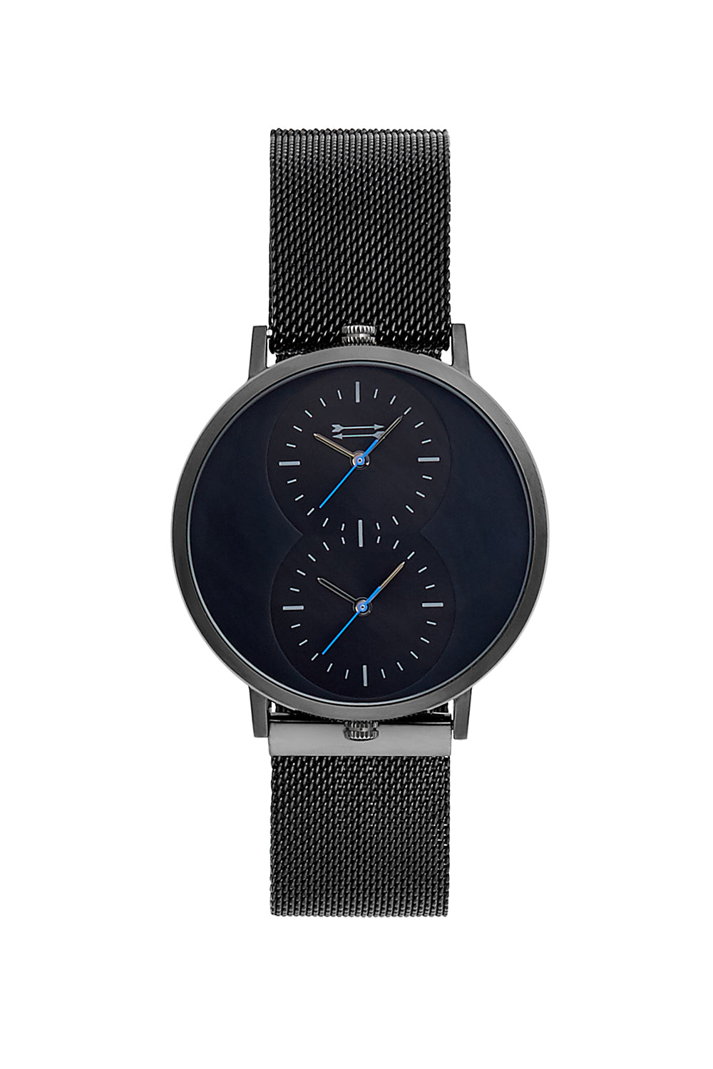 Griffith Black Ion Plated Tone Mesh Bracelet Watch, 43MM