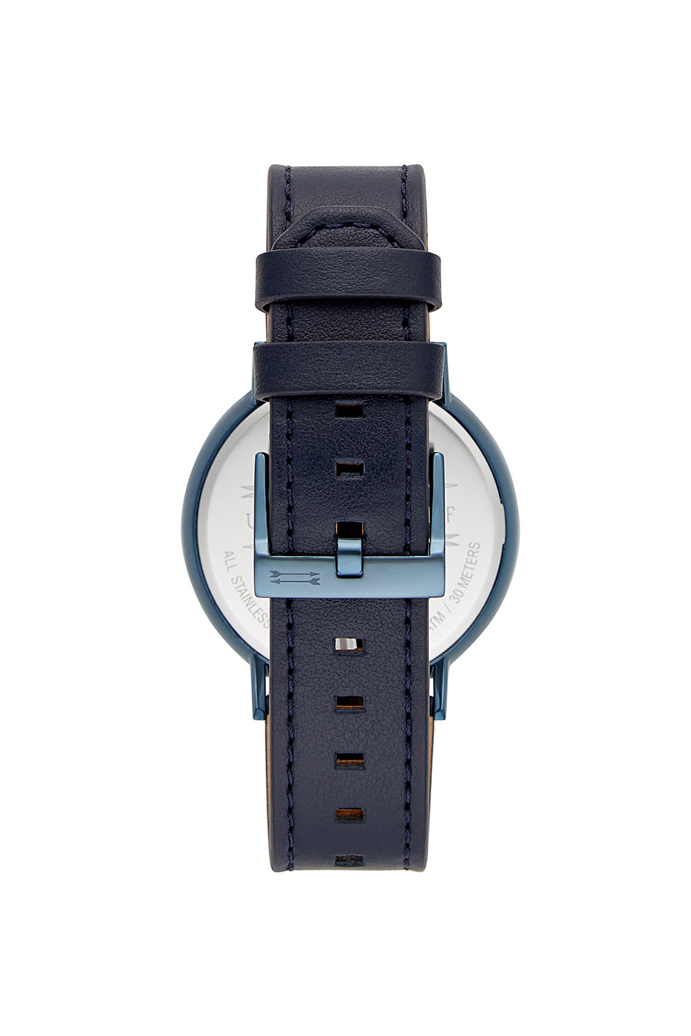 Griffith Blue Ion Plated Tone Blue Strap Watch, 43MM
