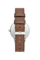 Norrebro Stainless Steel Tone Saddle Leather Strap Watch, 40MM - Hover Image