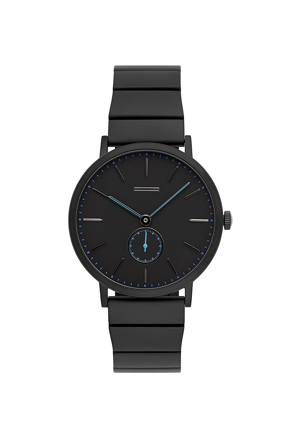 Norrebro Black Tone Black Leather Strap Watch, 40MM