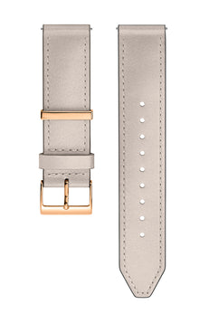Gold Tone Leather Strap, 20MM