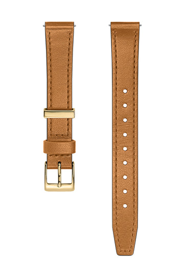 Gold Tone Leather Strap, 14MM