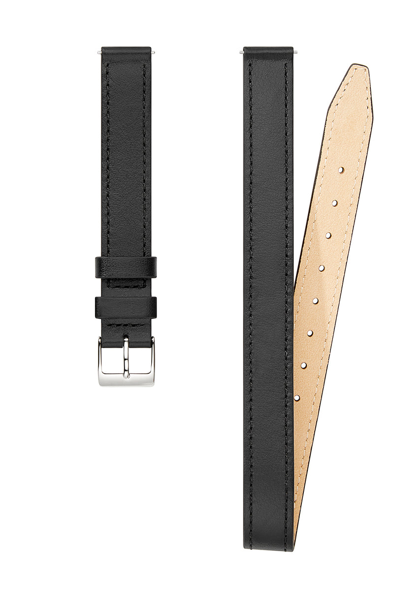 Silver Tone Wrap Leather Strap, 14MM
