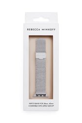 Apple Watch® Strap Pressed Mesh Stainless Steel - Hover Image