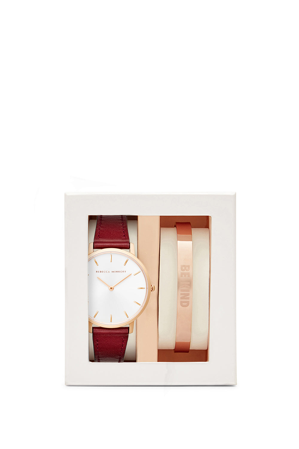 Major Bordeaux 35MM Watch & Rose Gold Bangle Gift Set
