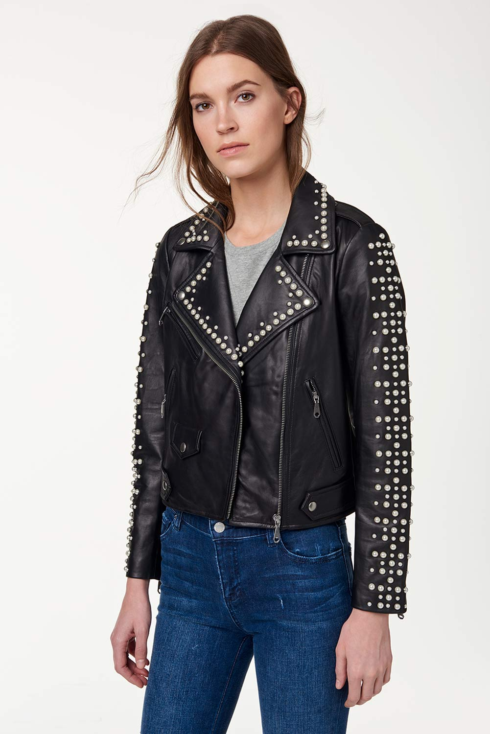 Wes Moto Jacket With Pearls