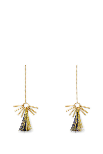 Morocco Tassel Threader Earrings