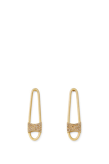 Pave Safety Pin Earring