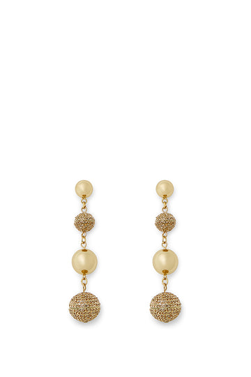 Statement Sphere Drop Pave Earring